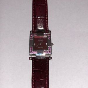 Lucien Piccard Dufonte Burgundy Leather Watch